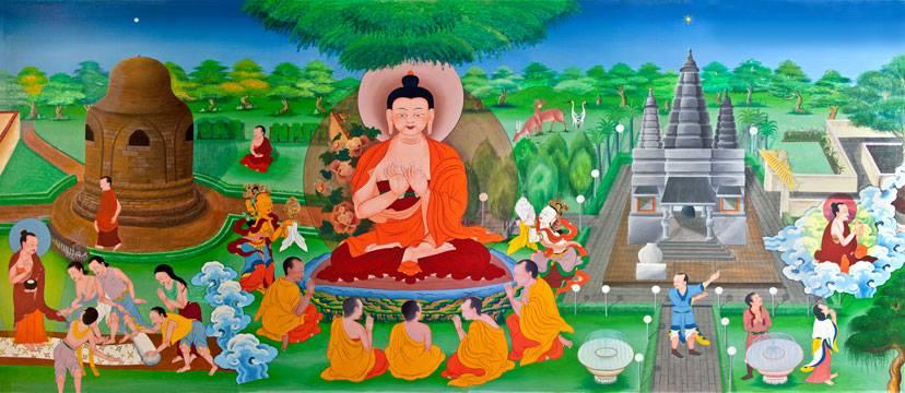 Đức Phật thuyết pháp 5 anh em